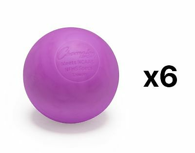 Champion Sports NCAA/NFHS Official Size Rubber Lacrosse Ball, Purple (6-Pack)