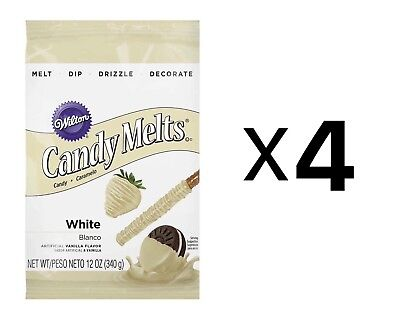 Wilton White Candy Melts Chocolate Fondue Fountain Cake Pops 14 Oz. Bag (4-Pack)