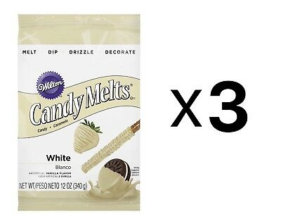 Wilton White Candy Melts Chocolate Fondue Fountain Cake Pops 14 Oz. Bag (3-Pack)