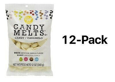 Wilton White Candy Melts Chocolate Fondue Fountain Cake Pops 14oz Bag (12-Pack)