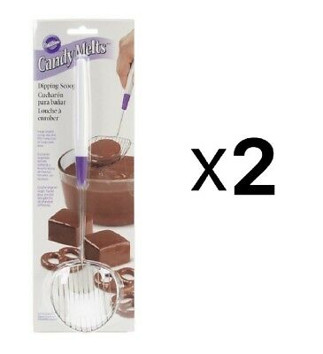 Wilton Candy Melts Treats Stainless Steel Dipping Scoop Tool 1904-1018 (2-Pack)