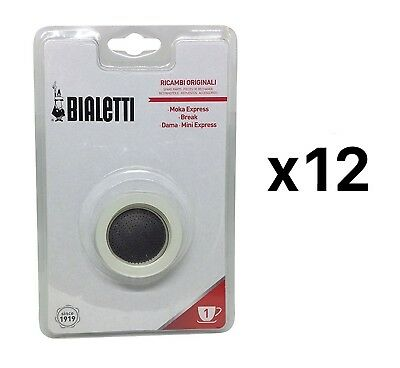 Bialetti 1 Cup Stovetop Moka Express Replacement Gasket Seal Rubber (12-Pack)