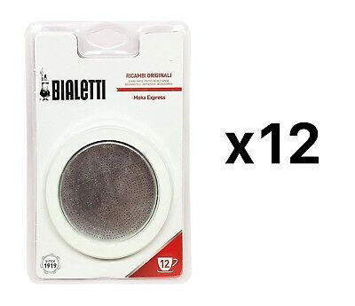 Bialetti Gasket and Filter - Aluminum Coffee Maker Moka Express 12 Cup (12-Pack)