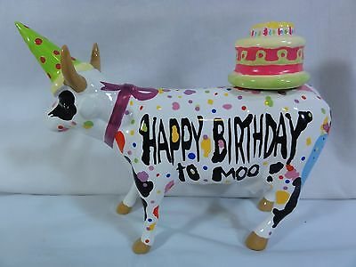 """Westland Cow Parade """" Happy Birthday to Moo """" - Numbered 7331 Detailed - Unusual"""