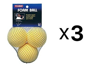 Tourna Foam Tennis Practice Youth Balls, Kids Training Aid-3 Pack (3-Pack)
