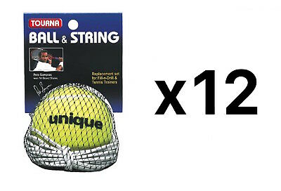Tourna Ball-String Replacement-Fill N Drill Trainer-Sampras Trainer (12-Pack)