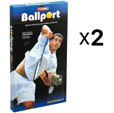 Unique Tourna Ballport 80-Ball Basket Tennis Ball Pick Up Hopper (2-Pack)