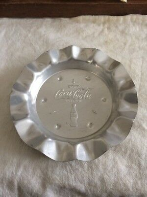 1950s Drink Coca Cola ASHTRAY embossed Bottle & REG.U.S.PAT.Off. Rare version