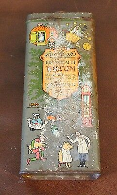 WT Rawleigh Rare  Nursery Rhyme Talcum Powder Tin Freeport Illinois