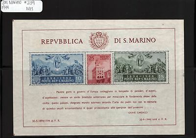 Lot of 3 1944 San Marino MH Mint Hinged Stamps Scott # 239 #118158 X