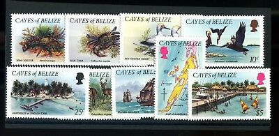 Lot of 9 Cayes of Belize MNH Mint Never Hinged Stamps Scott # 1-9 #116930 X