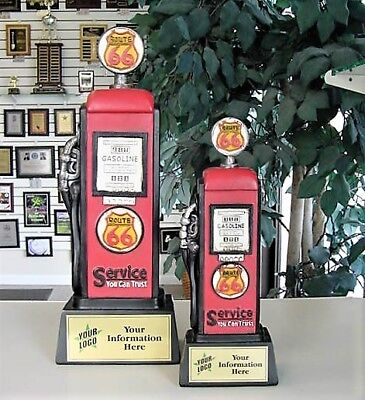 Gas Pump Car Show Trophy Set Of Two  Resin  Awards Free Lettering