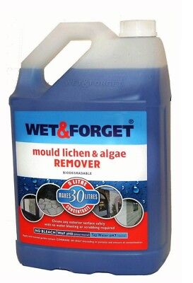 1 x 5L WET AND FORGET MOULD, ALGAE AND LICHEN REMOVAL 100% Original - FREE P&P