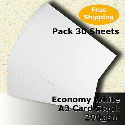 75 Sheets Economy Card Stock WHITE A3 Size 200gsm #H5268