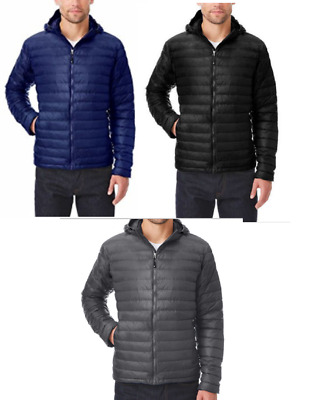 32 Degrees Heat Men's Ultra Light Down Hooded Jacket – Size/Color Varies – New