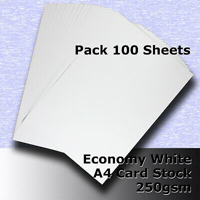 100 Sheets Economy Card Stock WHITE A4 Size 250gsm #H5308