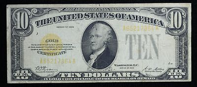 1928 $10 Small Gold Certificate Fr-2400