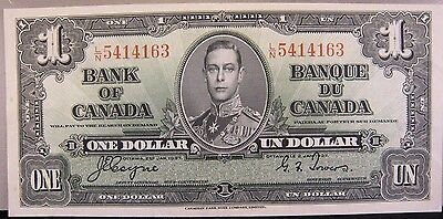 1937 Bank of Canada One Dollar Lightly Circulated Note   ** FREE U.S SHIPPING **