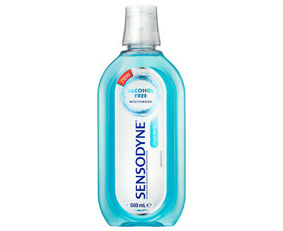 Sensodyne Alcohol-Free Cool Mint Mouthwash 500mL