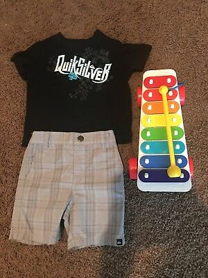 Quicksilver 18 Month shirt  short and toy