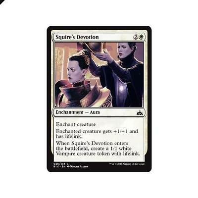 Magic The Gathering MTG Squire's Devotion 25/196 Rivals of Ixalan Singles