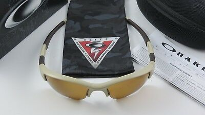 5b5d1ec2c5 Oakley Flak Jacket 1.0 SI Desert Tan Bronze Polarized XLJ 53-100+Original  Box
