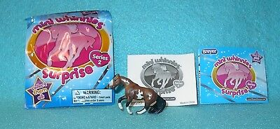 """Breyer Mini Whinnies Surprise Series 2 Bay Pinto """"bailey"""" Sliding Stop Qh New 16"""