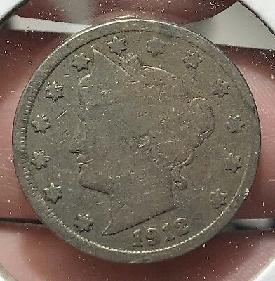 1912 Liberty V Nickel. Nice Collector Coin For Your Collection.8