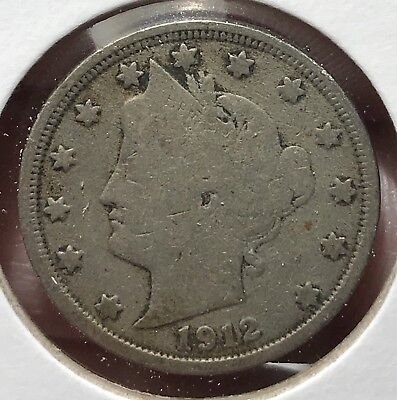 1912 Liberty V Nickel. Nice Collector Coin For Your Collection.9