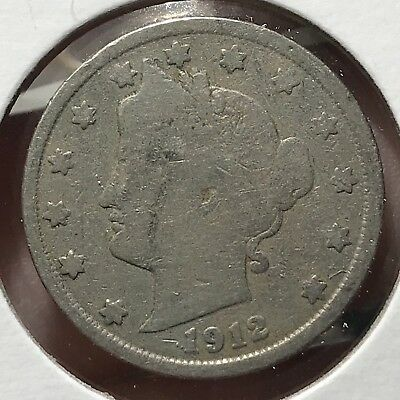 1912 Liberty V Nickel. Nice Collector Coin For Your Collection.13