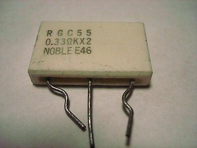 Two 0.33 OHM 5W Dual Ceramic collector–emitter Cement  RESISTOR
