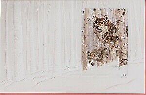 Wolf Wolves Embossed Christmas Cards Box  16 Something's in the Air Al Agnew