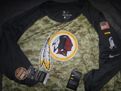wholesale dealer 42608 5f451 NIKE REDSKINS NFL Salute To Services Raglan 3/4 Sleeve Shirt ...