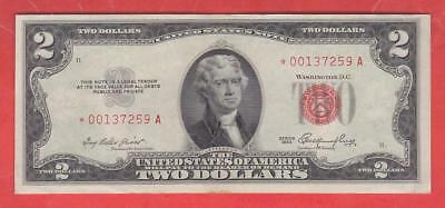 $2 1953 Red Seal *great Au++* Star United States Note!!