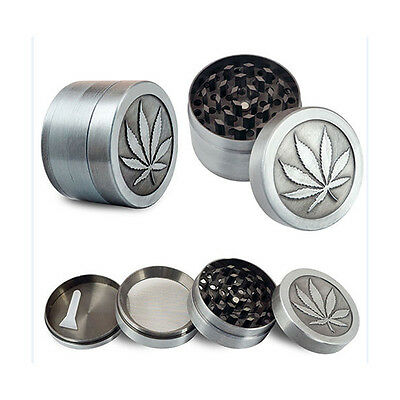 4 Layer Leaf Zinic Alloy Hand Muller Tobacco Crusher Smoke Herbal Herb Grinder