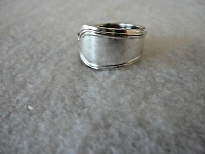 Vintage Silver Spoon Ring Size 6.5