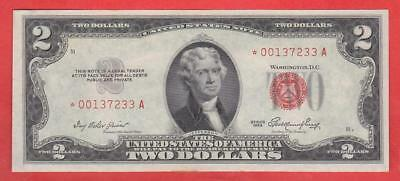 $2 1953 Red Seal *au++* Star United States Note!!