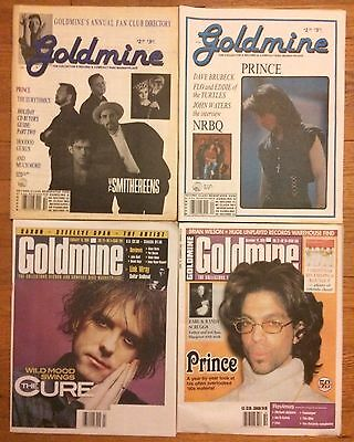 Goldmine Magazine 4 Prince Issues 1989 1990 1998 2001 FREE SHIPPING