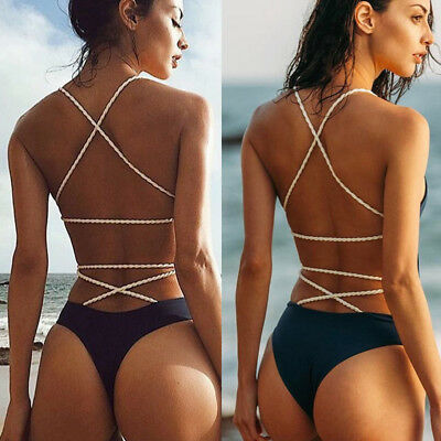 Women Bandage Swimwear One Piece Swimsuit Monokini Push Up Bikini Bathing