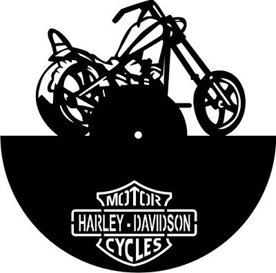 DXF CDR  File For CNC Plasma Laser Cut - Harley Davidson Clock - Ready to Cut