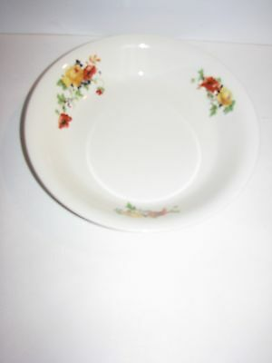 Homer Laughlin, Vintage, 1953, Round Bowl, Red Yellow Flowers, Looks Unused