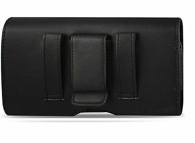 FOR Virgin Mobile LG TRIBUTE BELT CLIP LOOP LEATHER HOLSTER POUCH CARRY CASE