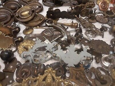 antique and vintage drawer pulls and knobs large lot some very hard to find.