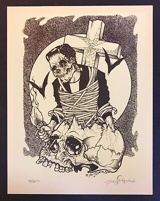 "PUSHEAD Signed+Numbered Print ""CHILLER THEATRE"" #76/200 Rare Misfits Metallica"