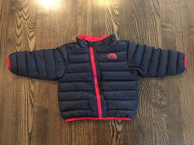 The North Face 550 Fill Down Puffer Jacket Coat Toddler Size 6-12 Months Blue