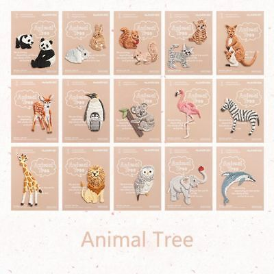 Cute DIY Animal Embroidered Iron on Patches Subsidies Decoration Badge Appliques