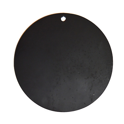 "One AR500 Steel Circle 12"" x 3/8"" Thick Target Shooting Practice Painted Black"