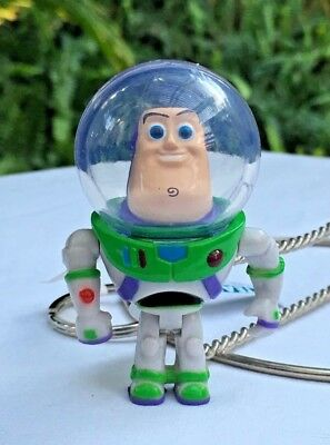 Disney Parks Toy Story Buzz Lightyear Light, Sound, Moveable Arms Keychain NWT
