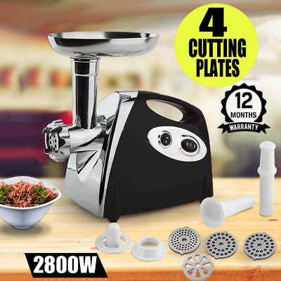 2018 Meat Grinder Electric Commercial Mincer Sausage Filler Kebbe Maker +4Plates