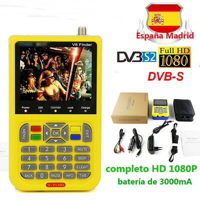 Single-Tuner V8 Finder Buscador de satélite FTA DVB-S2 completo HD 1080P MPEG-4